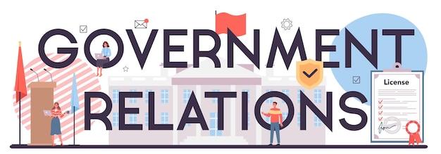 Cabeçalho tipográfico de relações de governo