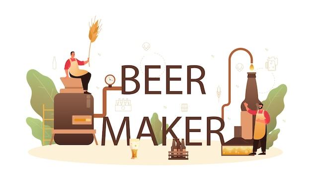 Cabeçalho tipográfico do fabricante de cerveja.