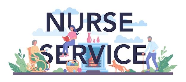 Cabeçalho tipográfico do serviço de enfermagem