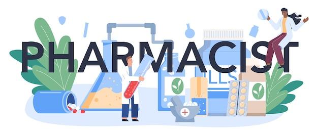 Cabeçalho tipográfico farmacêutico