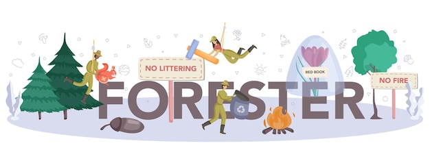 Cabeçalho tipográfico forester