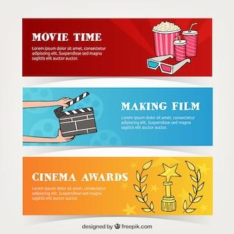 Cabeçalhos cinema coloridos