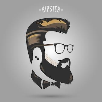 Cabelo castanho hipster