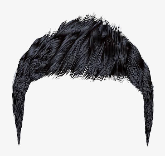 Cabelo homem moderno com cabelo preto