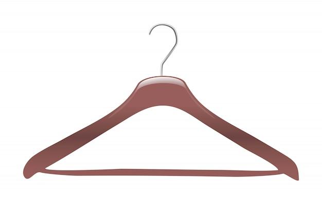 Cabide de roupas de vetor. isolado.