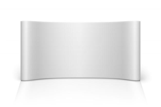 Cabine de feira em branco branco