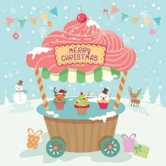 Cabine de festa de natal feliz