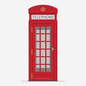 Cabine de telefone vermelho da rua de londres
