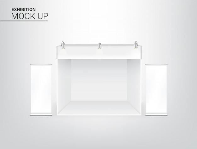 Cabine realística do pop da exposição da barraca 3d