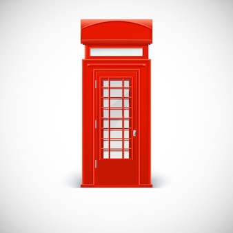 Cabine telefônica, estilo londrino. ilustração