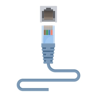 Cabo ethernet especial composto por conector e fio longo.
