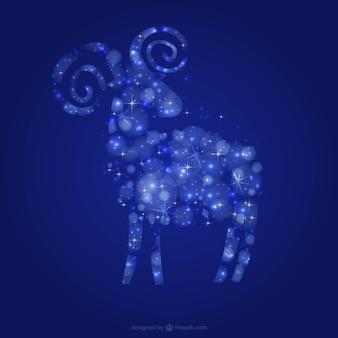 Cabra com estrelas