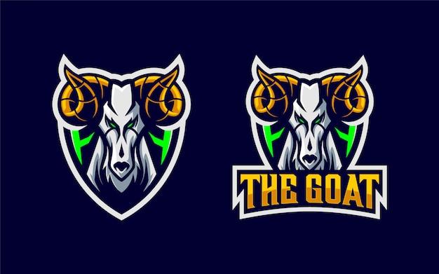 Cabra no mascote do logotipo do escudo