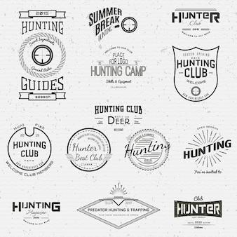 Caça emblemas e etiquetas