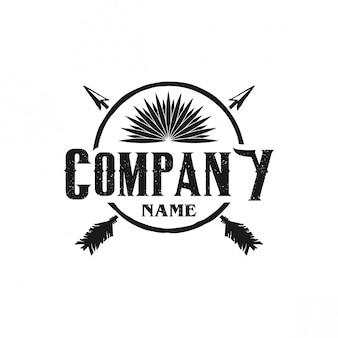 Caça logo vintage
