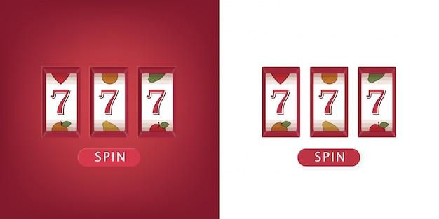 Caça-níqueis três setes jackpot. ilustração bem sucedida ganha no jackpot de jogo de cassino.