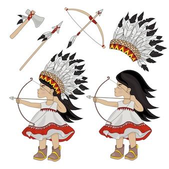 Caçador indiano pocahontas princesa