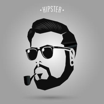 Cachimbo de homens hipster