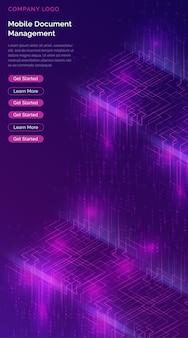 Cachoeira de big data, fluxos de código binário digital