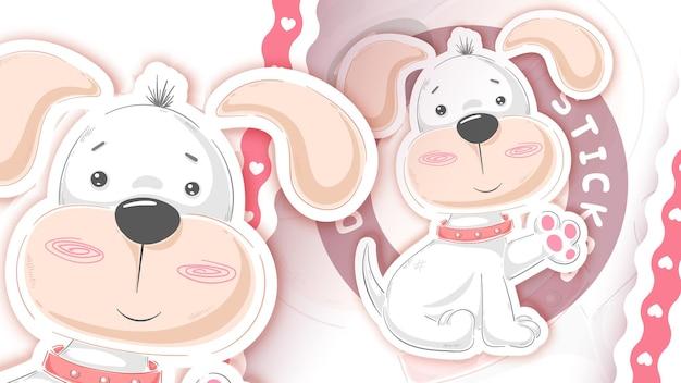 Cachorro de pelúcia - ideia para o seu adesivo