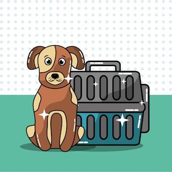 Cachorro filhote de cachorro pet portador de viagem animal doméstico