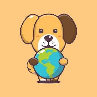Cachorro fofo no evento do dia mundial dos animais