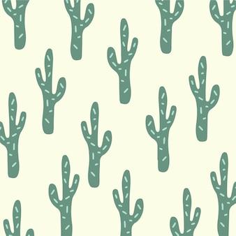 Cacto padrão de fundo mídia social postar ilustração vetorial de planta