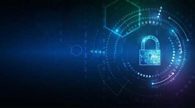Cadeado com chave de segurança de dados pessoais