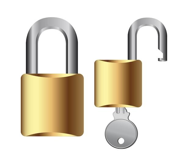 Cadeado com chave isolada