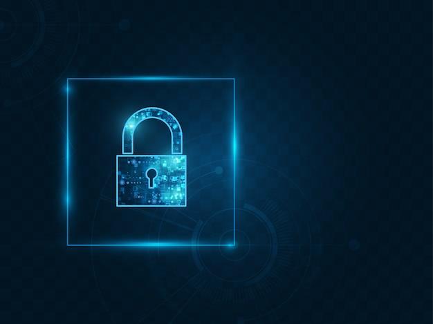 Cadeado com fechadura na segurança de dados pessoais