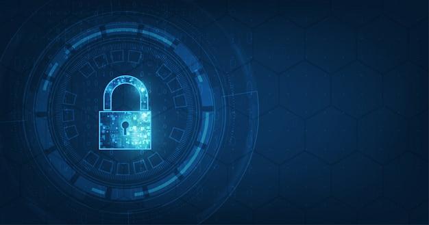 Cadeado com fechadura no fundo de segurança de dados pessoais