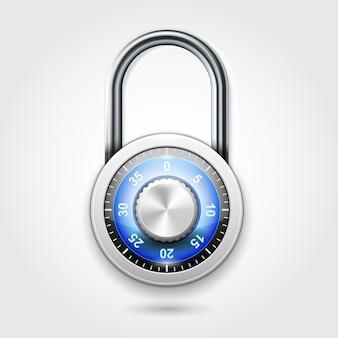 Cadeado de combinação de armários escolares - ícone de cadeado redondo com código