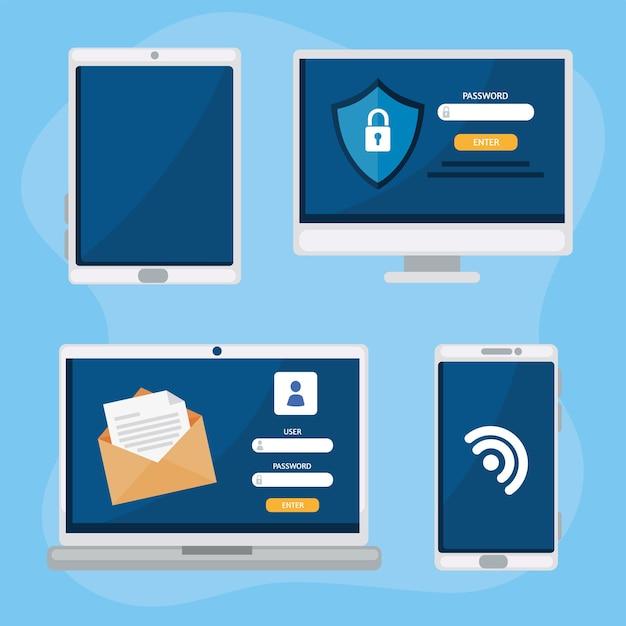 Cadeado de segurança cibernética