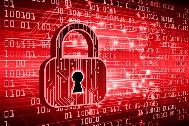 Cadeado fechado em digital, segurança cibernética