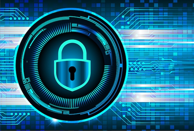 Cadeado fechado em fundo digital, segurança cibernética