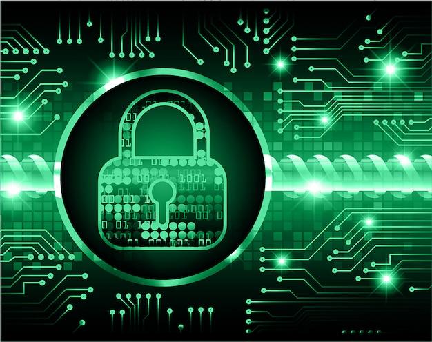 Cadeado fechado no fundo digital, segurança cibernética para arquivo jpeg