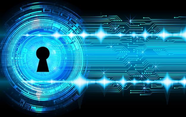 Cadeado fechado no fundo digital, segurança cibernética