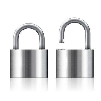 Cadeados abertos e fechados