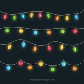 Cadeia coleção colorido luz