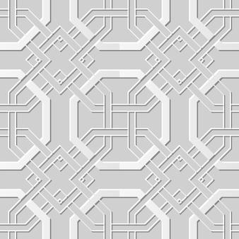 Cadeia cruzada de octógono de arte em papel 3d sem costura damasco