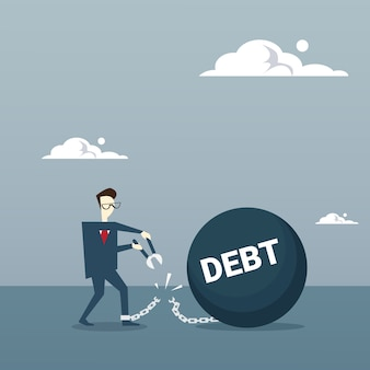 Cadeia de corte de homem de negócios cobre a dívida de cartão de crédito