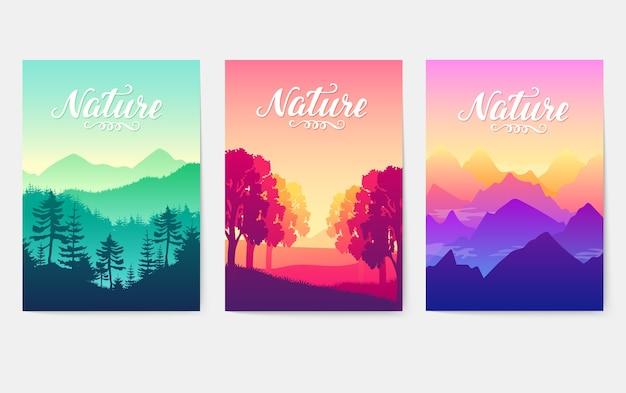 Cadeias de montanhas sob os raios solares do sol poente. beleza dos melhores parques da terra.