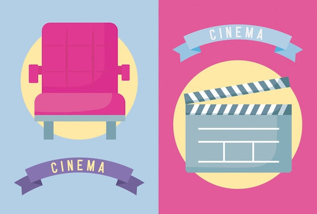 Cadeira com ripa de cinema