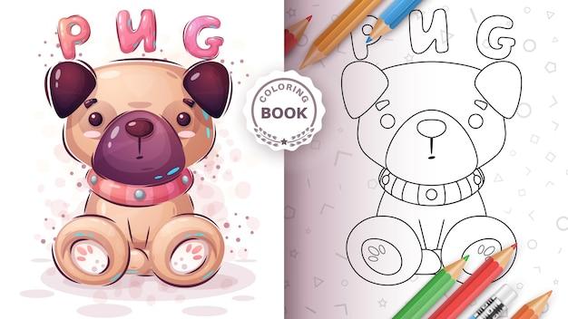Cadeira de cachorro fofa - página para colorir