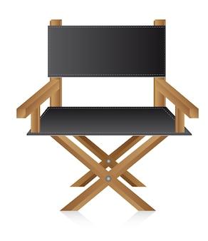 Cadeira de diretor sobre vetor de filme de fundo branco