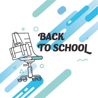 Cadeira de escritório de volta ao projeto da linha de escola
