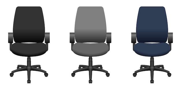 Cadeira de escritório design ilustração isolada