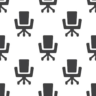 Cadeira de escritório, padrão sem emenda de vetor, editável pode ser usado para planos de fundo de páginas da web, preenchimentos de padrão