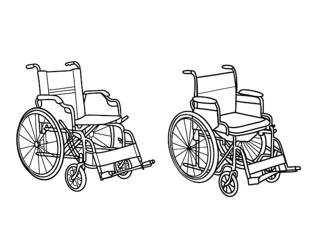 Cadeira de rodas. ilustração vetorial