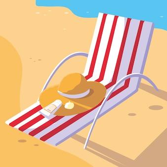 Cadeira de verão e de férias
